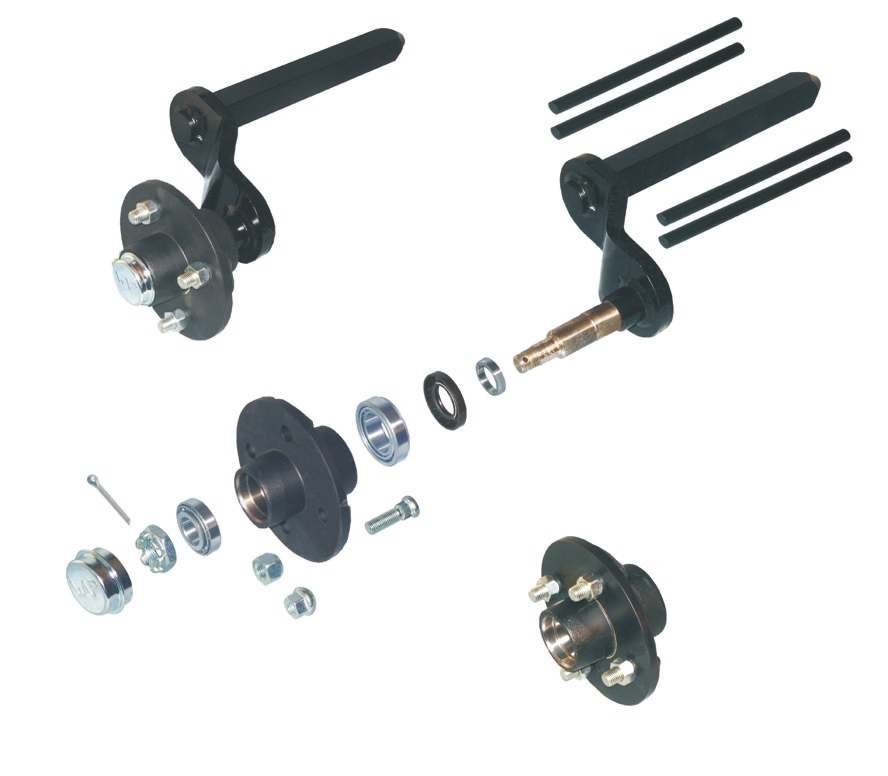 Rubber spring axles without brakes (axle load) 20 1,2,4 18,19 15 5 6 Designation / Remark complete swing arm, left complete swing arm, right swing arm, left
