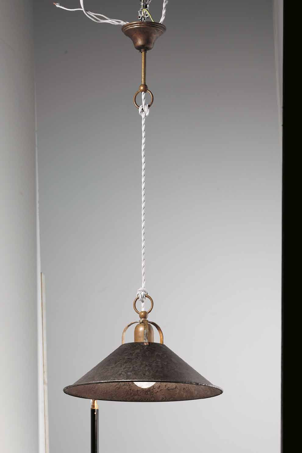 Collection for interior with conical forms in a solution of antiqued brass.