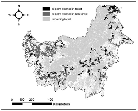 Extent and Distribution of Protected Areas, Kalimantan Quelle: WRI (World Resource Institute), Global