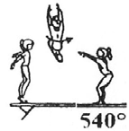 212 Wolf hop or jump with ½ turn (180 ) from side or cross position.