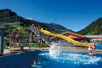 This bathing area is in the sunniest part of the Gastein Valley and is THE spot for families.