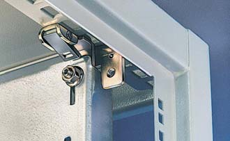 Wall attachment brackets For attachment of housings to walls without subsequent drilling and welding. The wall attachment brackets with a wall distance dimension of 1.