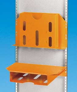 Stahlblech 1 mm Oberfläche: Lackiert RAL 2000 orange Combination work plate/diagram pocket For H 340 / H 345 / H 395 Can be used as work plate or diagram pocket When used as a work plate, disconnect