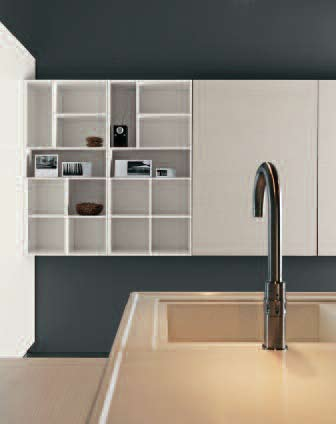 >The quadrix open wall unit arrangement gives these volumes a light and airy appearance.
