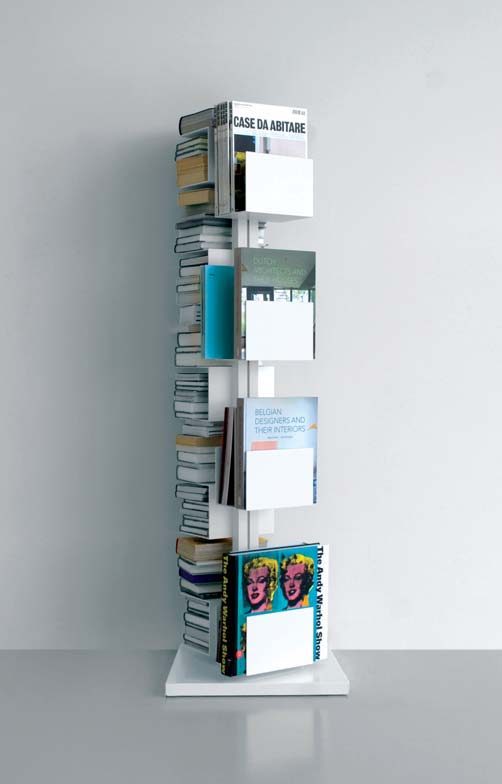 Rotating column for books and magazines,