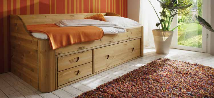 Choose between 3 different headboards and 2 plinth heights