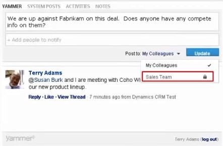 Posts Yammer Conversations Share status updates, ideas, news, wuestions and answers System Posts