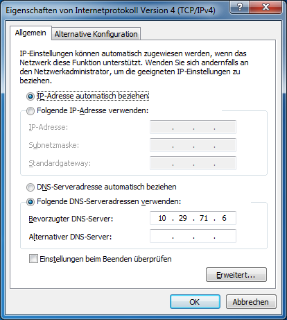 VMware View Installation Abb. 79: Connection Server Download Page 2. Start the setup and follow the instructions of the installation wizard. Important: Configure the correct DNS Server.
