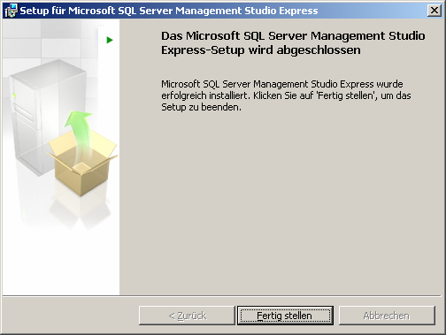 Die Installation von SQL-Server Management Studio Express