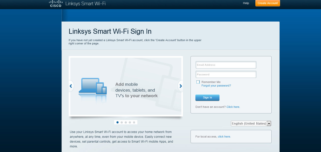 LINKSYS Smart Wi-Fi Account Erstellen Sie Ihren LINKSYS Connect Cloud Account