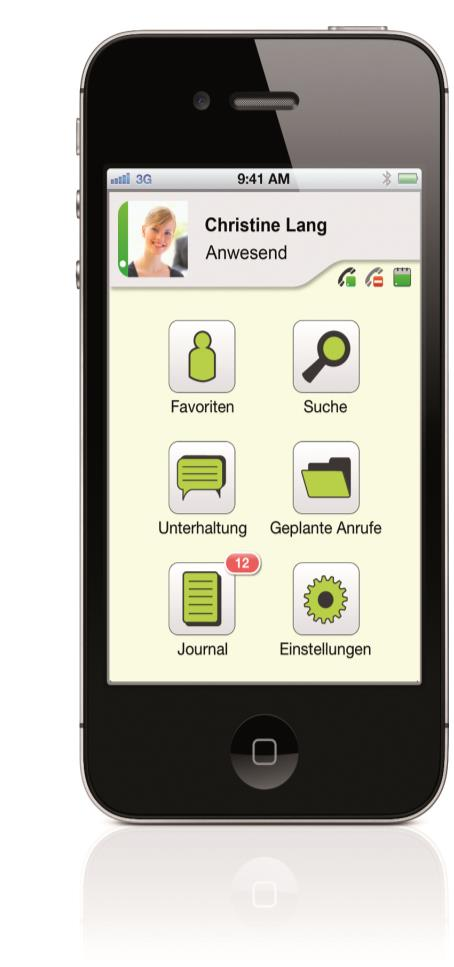 ProCall Mobile App(s) für iphone & Android Mobile Telephony Integrated Präsenz-Management Instant Messanging