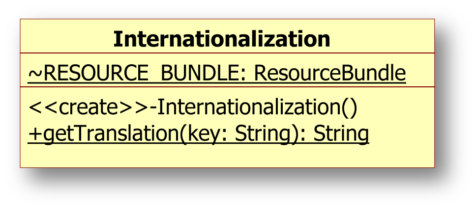 4.4 Internationalisierung 4.4 Internationalisierung Mit den in Java vorhandenen Bibliotheken java.util.local und java.util.resourcebundle soll die Basis für die Internationalisierung der Applikation geschaffen werden.