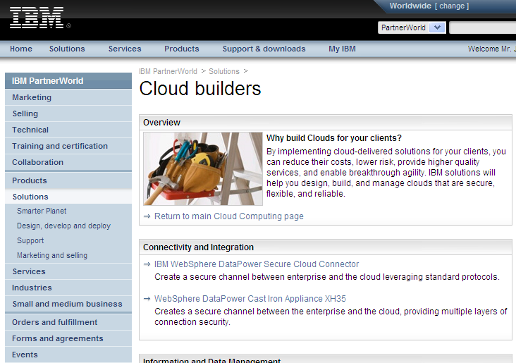 IBM Partner World Cloud Portal http://www.ibm.