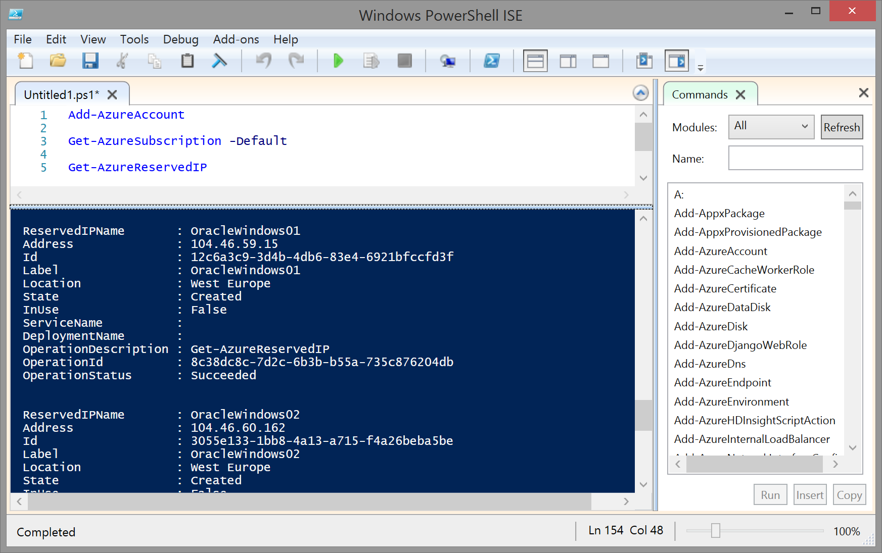 PowerShell Integrated