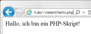 "EIN HELLO WORLD SCRIPT IN PHP <html xmlns=""http://www.w3."
