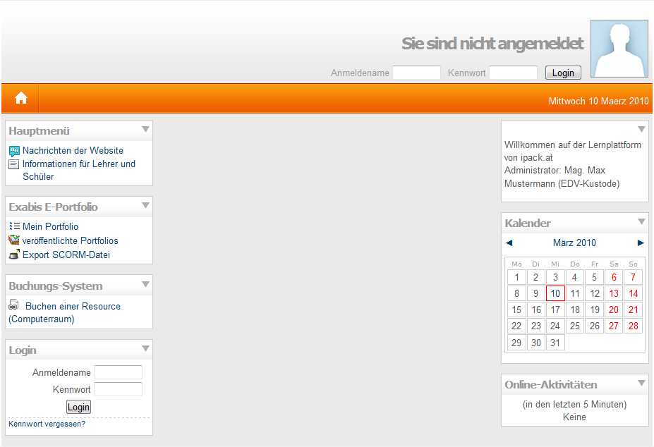 Transparenz Moodle mit single