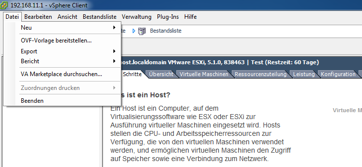 Einspielen des virtuellen paedml Windows Servers S1