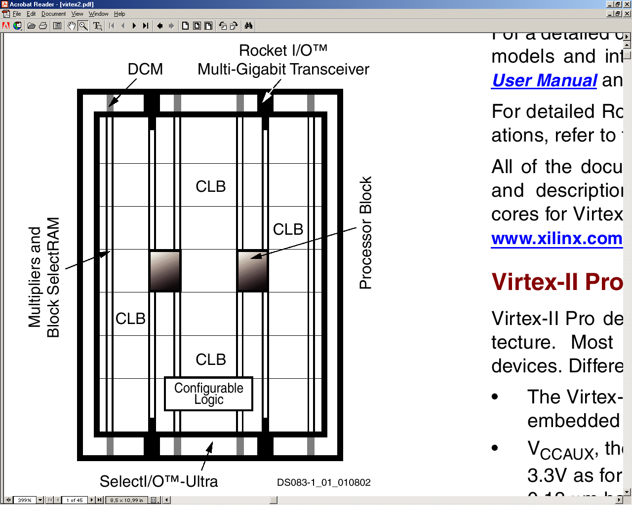 Virtex II Pro Devices include up to 4 PowerPC processor cores [ and source: Xilinx Inc.