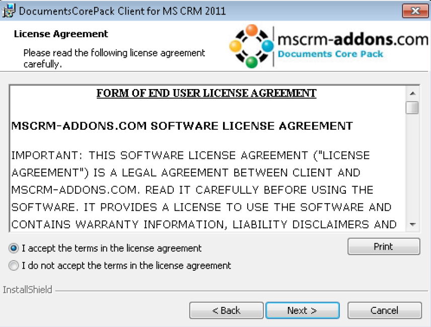 End User License Agreement (EULA)