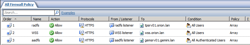 Hamburg Requests appear to come from TMG/ISA TMG/ISA TMG/ISA Traffic HTTPS HTTPS HTTPS Listener WSS listener radfs listener aadfs listener Public Name wss.portals.