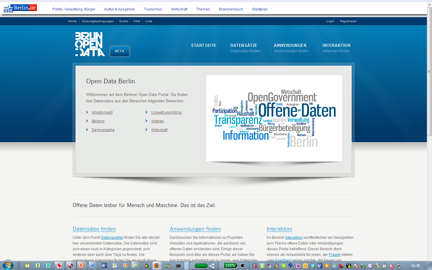Berlin Open Data Portal Making Open Data Real http://daten.berlin.