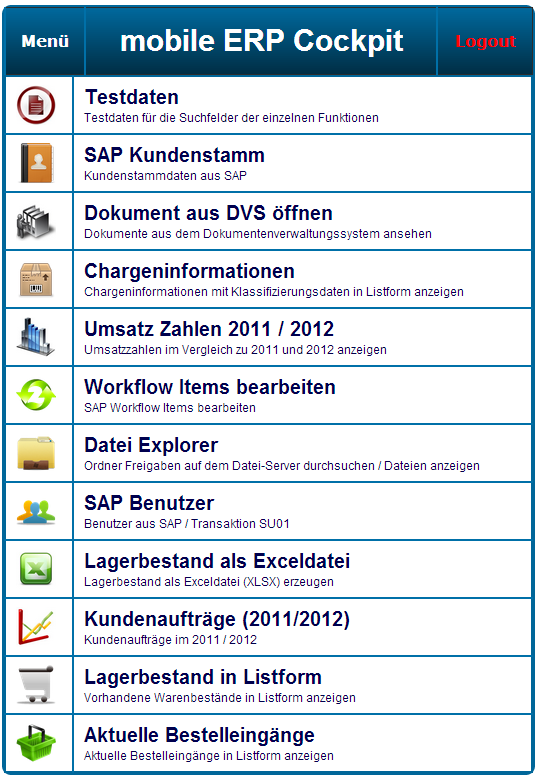 dem SAP Webservice her.