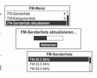Radio 109 DAB menu DAB announcements (DAB-Menü DAB-Durchsagen) In DAB-Menü den Multifunktionsknopf drehen und zu DAB- Meldungen springen, und dann den Multifunktionsknopf drücken.
