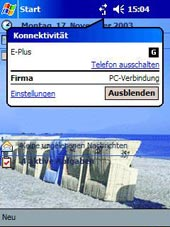 Microsoft Windows Mobile Drahtlose Synchronisation eines Microsoft Windows Mobile Gerätes Windows XP Look and Feel Integrierter Browser Komplette Outlook Synchronisation über GPRS-GSM-UMTS-WLAN Hohe