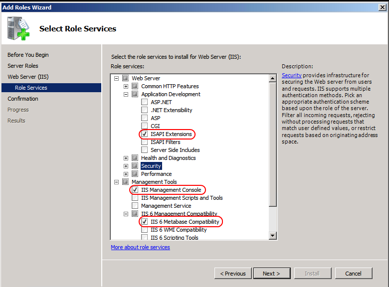 Figure 9 Add Roles Wizard Öffnen Sie die Dialog Box Web Server