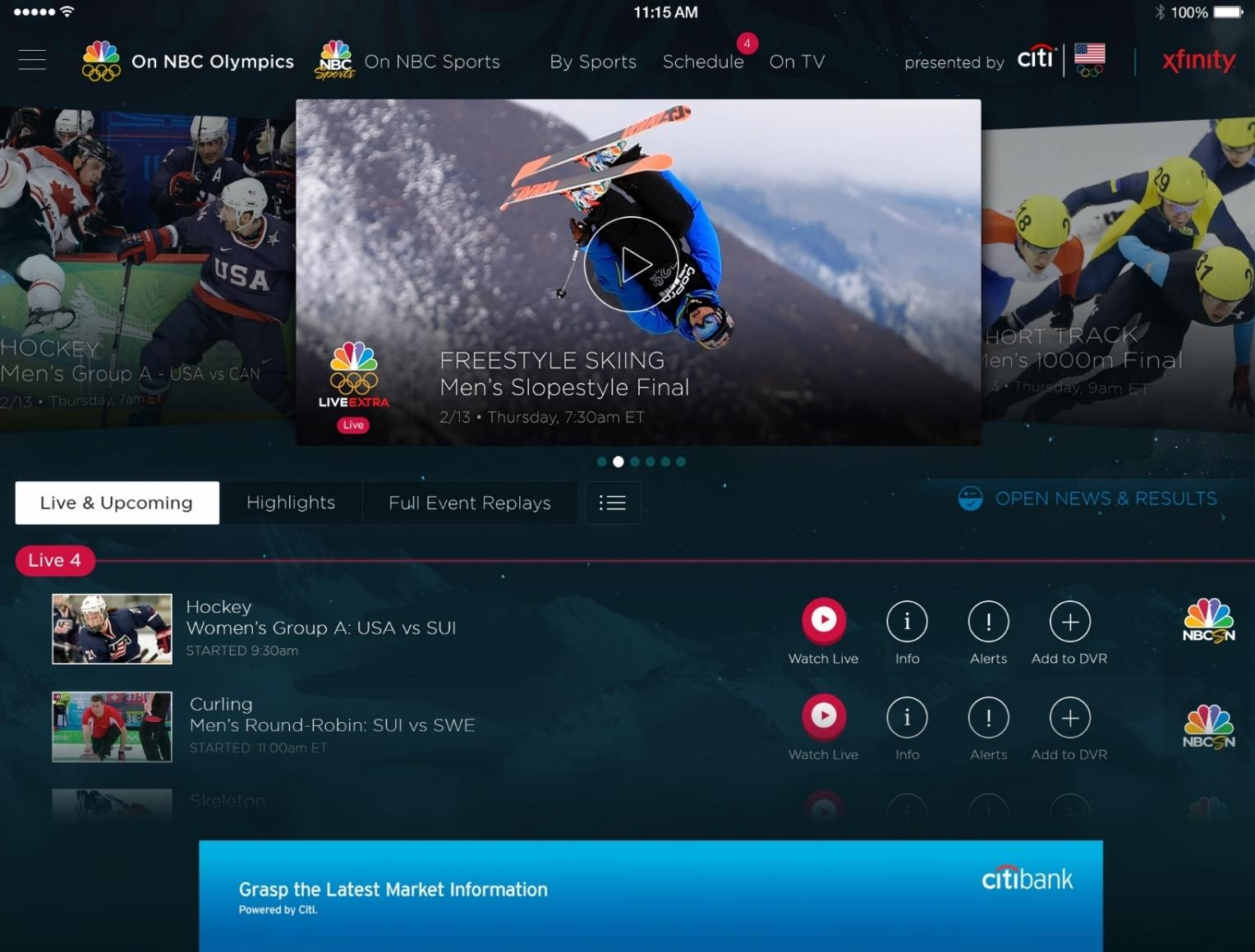 Olympics NBC Sports Live video encoding