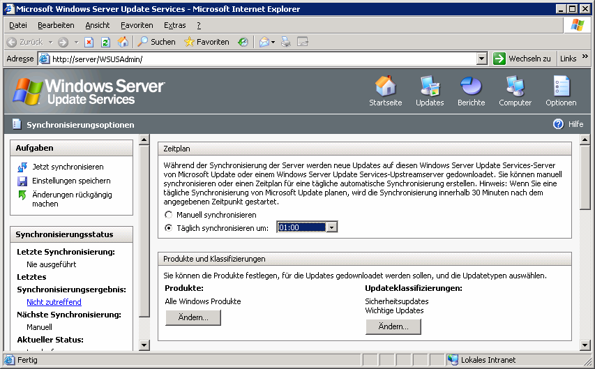 5. Windows Server Update Services (WSUS) 5.1.