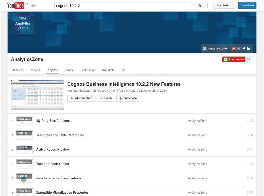 Cognos 10.2.2 auf Youtube 27 https://www.youtube.