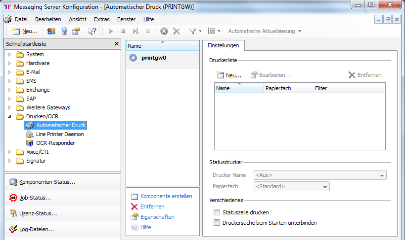 Konfiguration OfficeMaster 3.7.