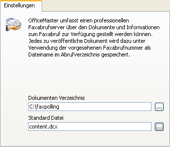 Konfiguration OfficeMaster 3.9.