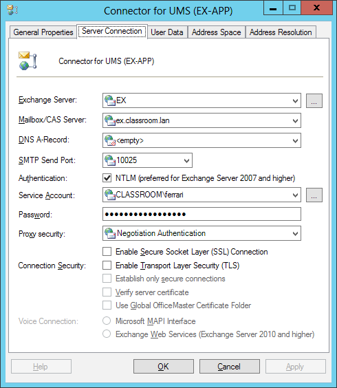 Connector für Microsoft Exchange Exchange Server Abbildung 5.