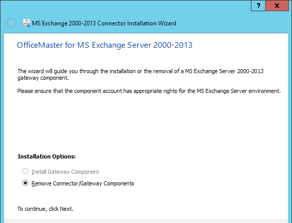 Connector für Microsoft Exchange 5.8. Deinstallation des Connectors In der Messaging Server Basiskonfiguration für die Connectoren (Abbildung 5.