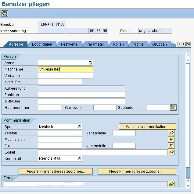Connector für SAP 8.1.