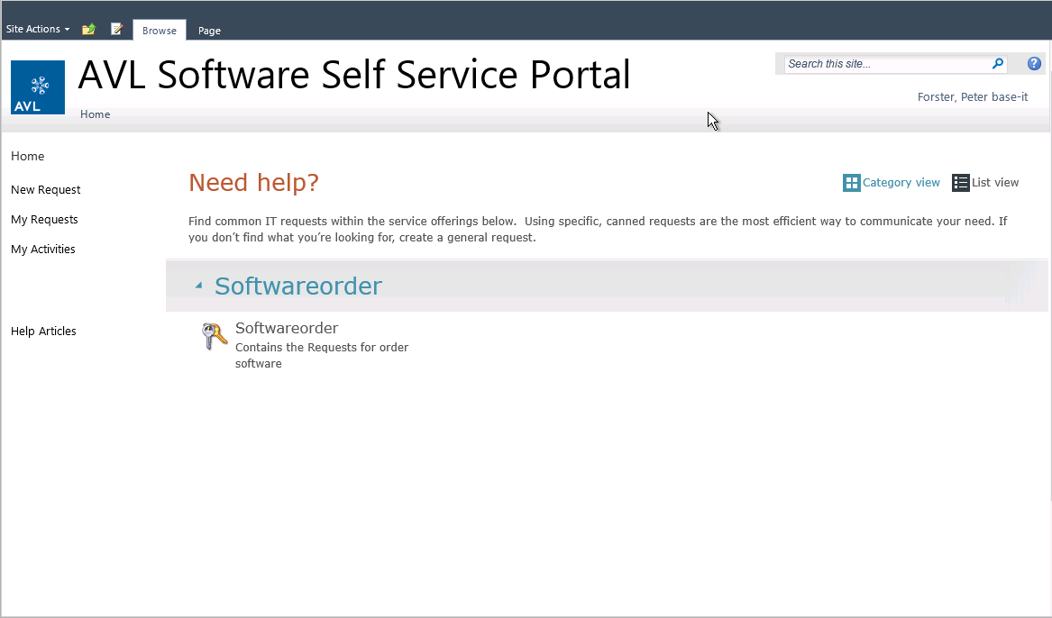 SCSM-Portal Application Model (MSI,
