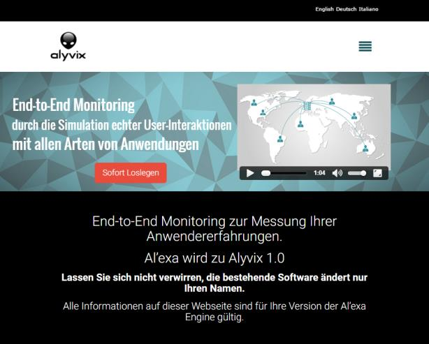 Real User Experience Monitoring Alyvix Alle weiteren Informationen zum End-to-End Monitoring mit Alyvix
