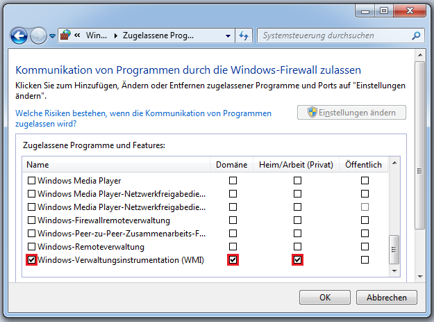 b. Die Windows Management Instrumentation (WMI) WMI (deutsch: Windows Verwaltungsinstrumentation) ist unter Windows eine der wichtigsten Schnittstellen für die Fernwartung und Administration von