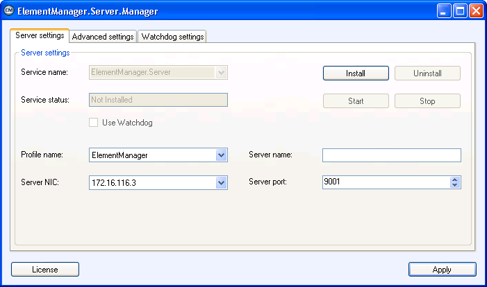 5.3.1 Server settings Registerkarte Abb.