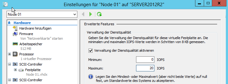 Windows Server 2012 R2 Neuerungen Storage-QoS Flexibleres Hyper-V Replica Storage Deduplication for VDI virtuelle