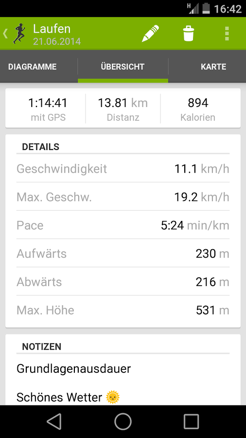 Tracking (Android) Sportalyze Proprietär Kein Onlinezwang