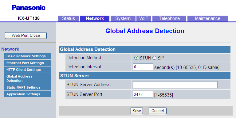 4.3.5 Global Address Detection No Proxy Server Address Legt die IP-Adresse/Name des Proxy-Servers fest. Max.