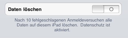 ios Data Protection Data Protection ist nach Update nicht automatisch aktiv!