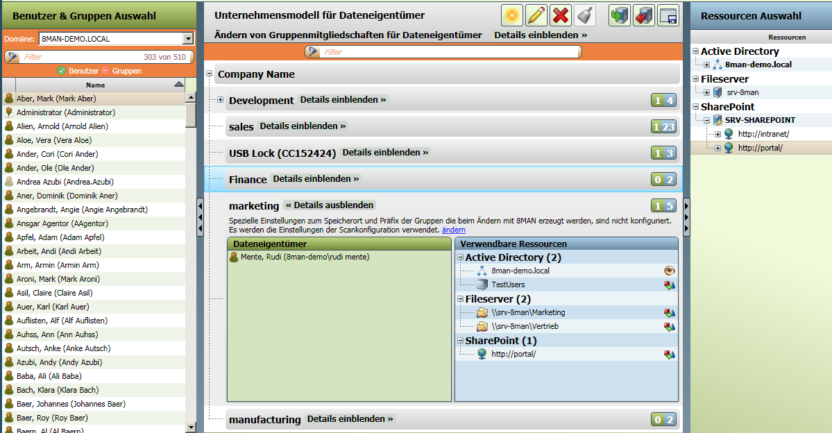 31 Data Owner Konfiguration per Import oder Drag&Drop Konfigurieren der