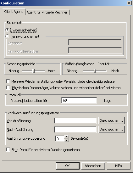 Konfiguration des Client Agent für Windows 2.