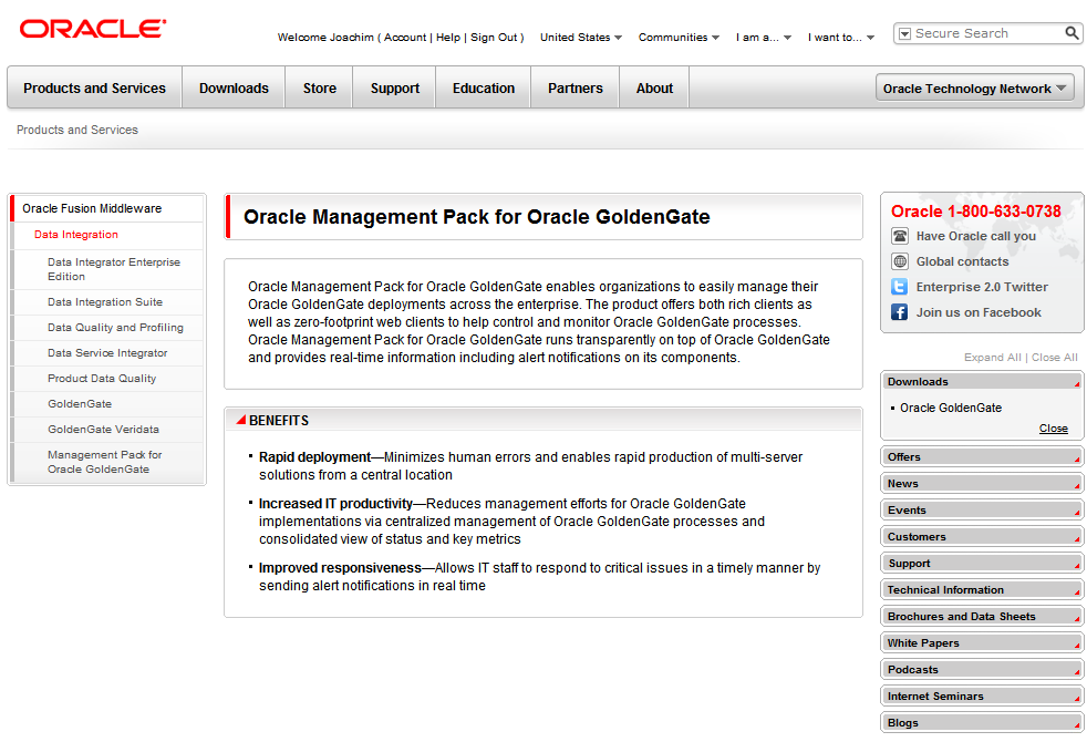 Management Pack for GoldenGate (1) http://www.oracle.