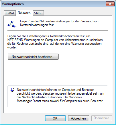 Screenshot 97: Warnoptionen Registerkarte Netzwerk 5.
