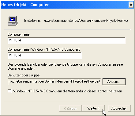 Pre-staging unter Windows